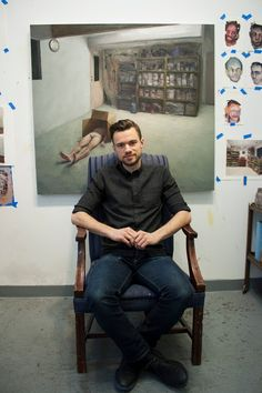 New York Academy of Art: Studio Portraits: Adam Lupton, MFA 2016