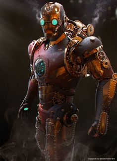 Iron Man Steam Punk challenge in Brainstorm group !, Jean-Sébastien Rolhion on ArtStation at https://www.artstation.com/artwork/iron-man-steam-punk-challenge-in-brainstorm-group