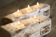 recycled wood votive