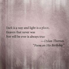 Dylan Thomas. Dark