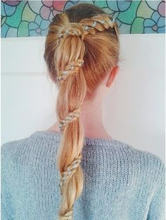 Carousel Braid - I don't really know what this is but it's super pretty- I just wish my hair was long enough for it to look like this!
