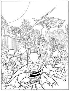 print coloring image batman