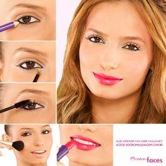 Para destacar a boca no seu #look, veja essa #dica de passo-a-passo: http://www.adoromaquiagem.com.br/dicas-maquiagem/novidades-tendencias/boca-em-destaque/16667/