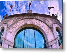 Nashville's Union Station Metal Print featuring the photograph Nashville's Union Station by Lisa Wooten