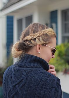 The Steele Maiden: Classic New England style - bayalage blonde french braid bun