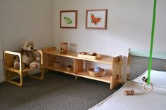 10 Montessori-Inspired Design Ideas for Kids' Rooms - ParentMap - I like these shelves and mirror