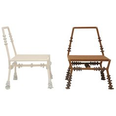 Tanya Aguiniga Clay Chair  edition of 2 , Brown/White | From a unique collection of antique and modern chairs at http://www.1stdibs.com/furniture/seating/chairs/