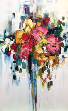 Oil Painting Flowers Art Abstract Bouquet Of Flowers Nice Canvas Paintings Zebra Canvas Wall Art Forget Me Not Art Oil Painting Flowers, Abstract Flowers, Flower Painting Abstract, Abstract Canvas, Canvas Wall Art, Motif Art Deco, Art Abstrait, Acrylic Art, Art Oil