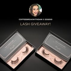 Sweet! Just entered to WIN myself some @esqido false lashes!