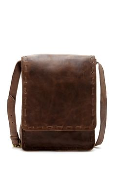 RAJ Jill Leather Stitch Trim Messenger Bag