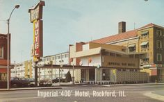 Imperial '400' Motel - Rockford, Illinois - now a vacant lot