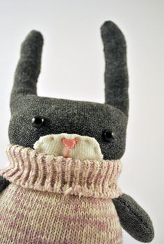 Handmade Sock Bunny by starsbythedoorstitch on Etsy, £15.00