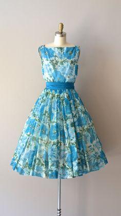 1960s dress | Redondo floral chiffon dress