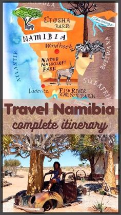 One month travel itinerary for Namibia road trip. From Fish River canyon to Caprivi strip, plus Chobe National park and Victoria Falls.