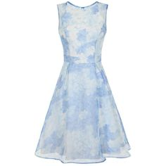 **Chi Chi London Organza overlay midi dress ($99) ❤ liked on Polyvore featuring dresses, blue, blue overlay dress, overlay dress, blue pleated dress, fitted tops and calf length dresses