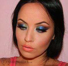 Sapphire Blue Smokey Eye Makeup Tutorial - Fashionisers