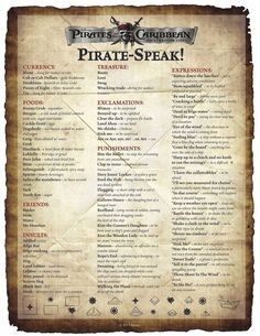 "Happy 'Talk Like A Pirate' Day, everyone! Arrr Are ye speaking pirate today? In celebration of ""Talk Like a Pirate Day"" today, after the jump, view Pirate Day, Pirate Life, Pirate Birthday, Pirate Theme, Pirate Decor, Writing Tips, Writing Prompts, Creative Writing, On Stranger Tides"