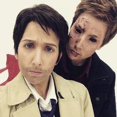 Hilly Hindi as Dean Winchester and Hannah Hindi as Castiel in Supernatural Parody