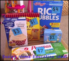 Grocery Store Game from Suzie's Home Education