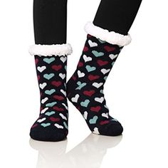 Women's One&Only Women's Fleece Lining Fuzzy Soft Christmas Knee Highs... ($25) ❤ liked on Polyvore featuring intimates, hosiery, socks, black, socks & hosiery, knee high hosiery, christmas socks, fleece lined knee high socks, knee length socks and fleece lined socks