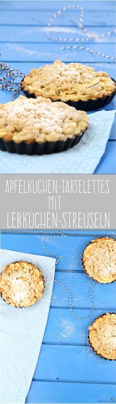 Apfelkuchen Tartelettes Lebkuchen Lebkuchengewürz Streusel Streuselkuchen Weihnachten