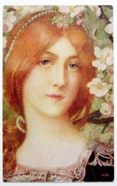 vintage postcard - Elisabeth Sonrel