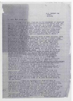 Sikh Digital Library: Bhai Sher Singh (MSc) Kashmir's October 3, 1928, l...