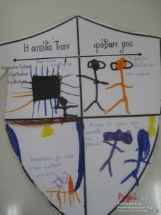 Φόβος - Φοβισμένος - Ασφαλής Psychology, Kindergarten, Projects To Try, Education, Feelings, Children, Face, School Stuff, Queens