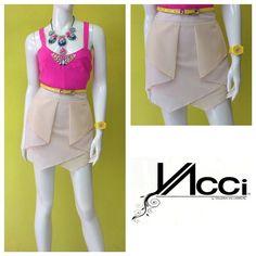 De lo nuevo de @vaccimx - falda origami en tonos beige #increible #somosfans #hechoenmexico #amolapeli