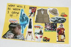 Make a collage for your sponsored child with pictures of the job they hope to be doing when they grow up