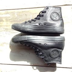 Vintage Black Converse Military High Tops  Mens 5  by ShopKingDude, $74.00