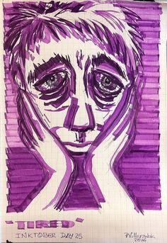 "https://flic.kr/p/MGf4L2 | ""Tired"" #Inktober Day 25 #Inktober2016"