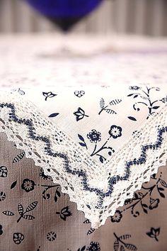 Tischdecke Blaudruck hell von Barbaras Kreative Welt auf DaWanda.com
