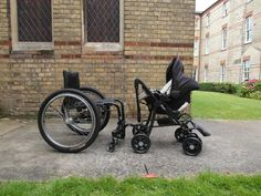 Wheelchair adapted pushchair - baby carseat configuration