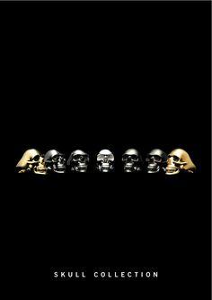 Gothic calavera con símbolos de suerteFantasy Skull muertos calavera h 14,5 cm