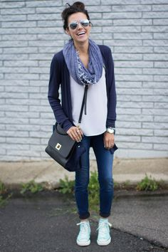 96b35aaaf203b Low converse and skinny jeans for a casual look. on The Fashion Time http