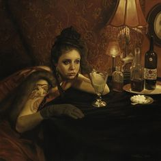Pamela Wilson - Absinthe Drinker  ~ not too dissimilar from how I looked in college, really.
