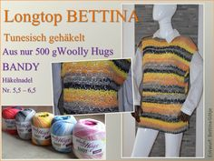 Tunesisch Häkeln - Pulli - Longtop BETTINA - Woolly Hugs BANDY Veronika Hug