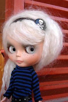pirate doll #blythe #white