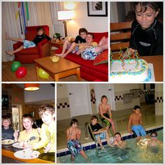 This. Is. Brilliant. For Winter birthdays - get a suite for a sleepover pool party at a local hotel. Soooo nice. Less expensive than renting an hour at a local pool or braving the chaos at Chuck E Cheese.