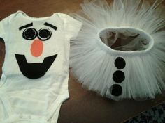 BABY GIRL OLAF COSTUME 6-9 months