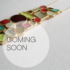 Coming soon... ALINA Collection· Designed by Cristina Julià. Spectacular coloured pieces in irregular geometric shapes juxtaposed together. Every shape is imbued with colour by cold enamelling. #joidartSS14 #joidart #barcelona #joidartsunnydays