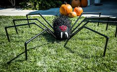 Tanya Memme's DIY Giant Halloween Lawn Spider