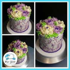Pretty classic floral buttercream cake inspired by White Flower Cake Shop! Pretty Cakes, Cute Cakes, Beautiful Cakes, Amazing Cakes, Cake Decorating Techniques, Cake Decorating Tips, Buttercream Cake Decorating, Rodjendanske Torte, Buttercream Birthday Cake