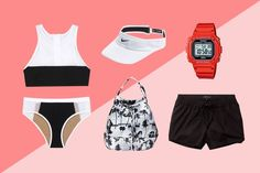 The Active Aesthete Your athletic taste will guide you to a graphic two-piece you can move around in. Grab a visor to help block the sun while you're serving up aces during a beach-volleyball game, and pack some shorts in a fun, printed bucket bag for post-match snacks with your crew. #refinery29 http://www.refinery29.com/best-beach-outfits-by-personality#slide-5