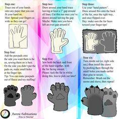 Hand Tutorial von Aurora-Fabrications auf DeviantArt – Fursuit Tips – Diy Costume Tutorial, Cosplay Tutorial, Cosplay Diy, Fursuit Paws, Fursuit Head, Fursuit Tutorial, Larp, Cool Costumes, Cosplay Costumes