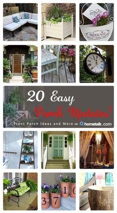 DIY-  20 Easy Budget Friendly Spring Summer Porch Updates!