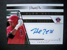 2006 Tristar Prospects Plus Farm Hands Autograph #16 Hank Conger Angels NM/MT