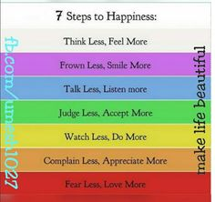 Make Life Beautiful: 7 Steps Of Happiness