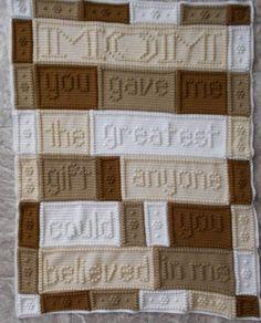 MOM pattern for crocheted blanket. van ColorandShapeDesign op Etsy